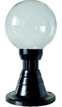 Lampy ogrodowe wys. 40 cm, kula przeźroczysta 200 mm