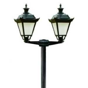 Lampy parkowe, stylowe wys. 2.7 m, klosz mrożony podwójny