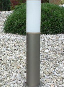 Lampy anodowane, kolor szampan, wys. 70 cm