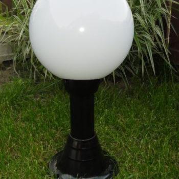 Lampy ogrodowe wys. 60 cm, kula biała 300 mm